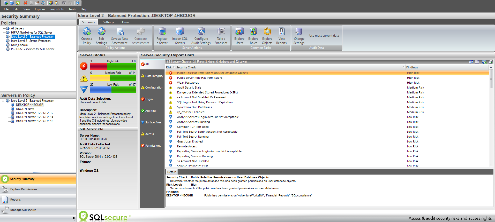 SQL Secure Peru Ecuador IDERA R2DT