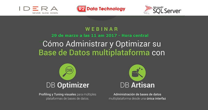 Webinar DB Optimizer DBArtisan Peru Ecuador IDERA Partner